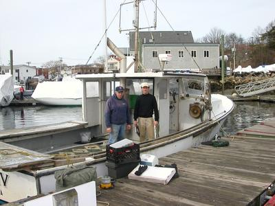 Joe Mondello amd John Wallinga on F/V Tully IV in GLoucester