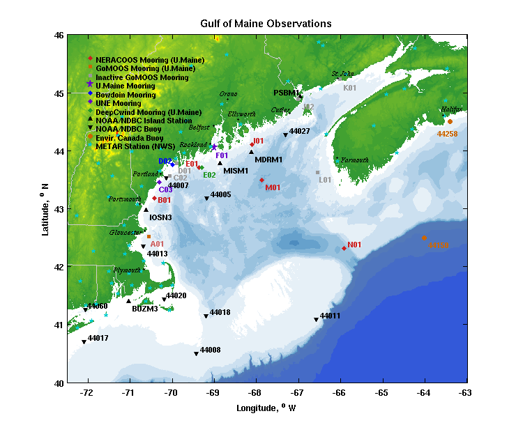 Gulf of Maine Observations