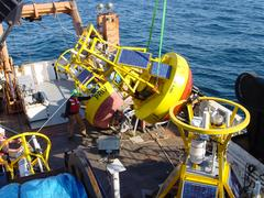 Recover of Buoy N on R/V Delaware, April 2005
